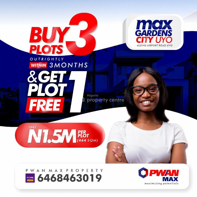3plots of Max Ville Estate and Get 1 for Free, Uyo, Akwa Ibom, Mixed-use Land for Sale