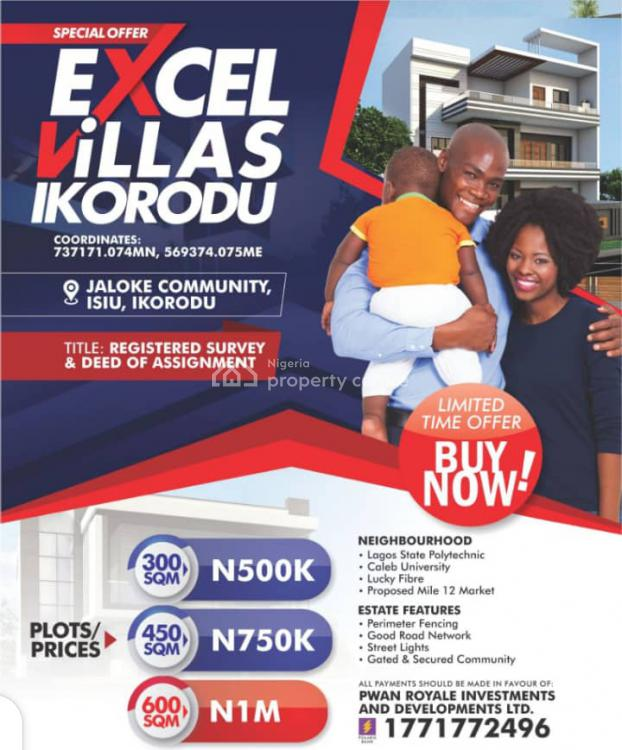 Excel Villas with Instant Allocation!, Isiu, Ikorodu, Lagos, Mixed-use Land for Sale