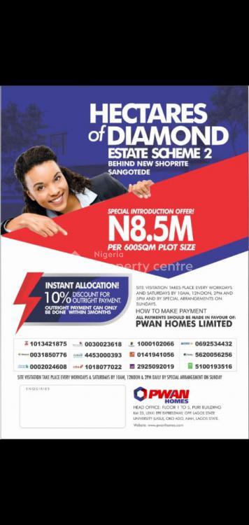 Covid 19 Give Away Buy and Build Immediately, Monastery Road Sangotedo, Sangotedo, Ajah, Lagos, Residential Land for Sale