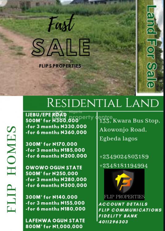 Residential Land, Owowo, Aboekuta Road, Ewekoro, Ogun, Residential Land for Sale