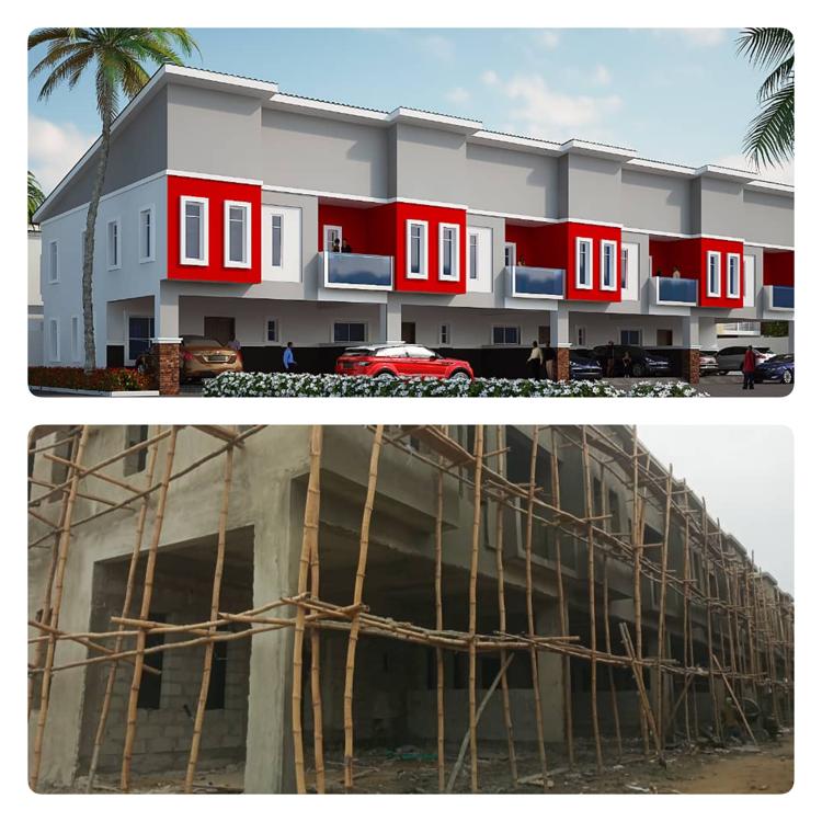 Luxury 4 Bedroom Terrace Duplex with Spacious Bq, All Rooms En-suite, Creek Avenue Court, Ikota, Lekki, Lagos, Terraced Duplex for Sale