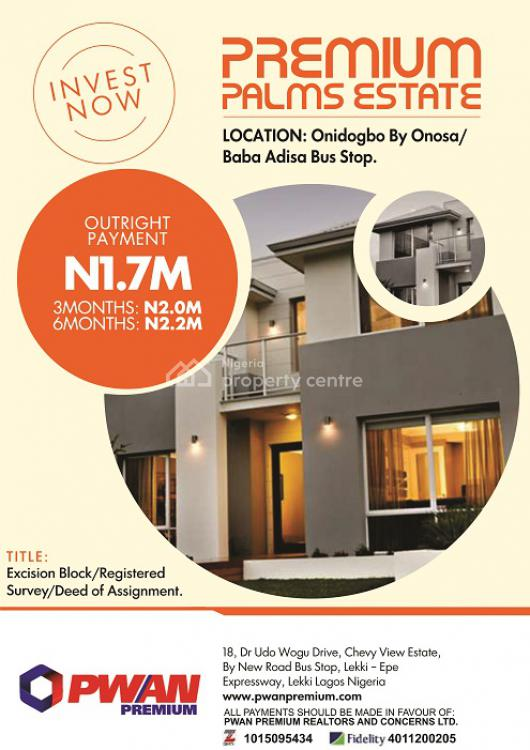 Plot Size of 600sqm, Onidogbo By Onosa/baba Adisa Bustop, Lekki Phase 1, Lekki, Lagos, Mixed-use Land for Sale