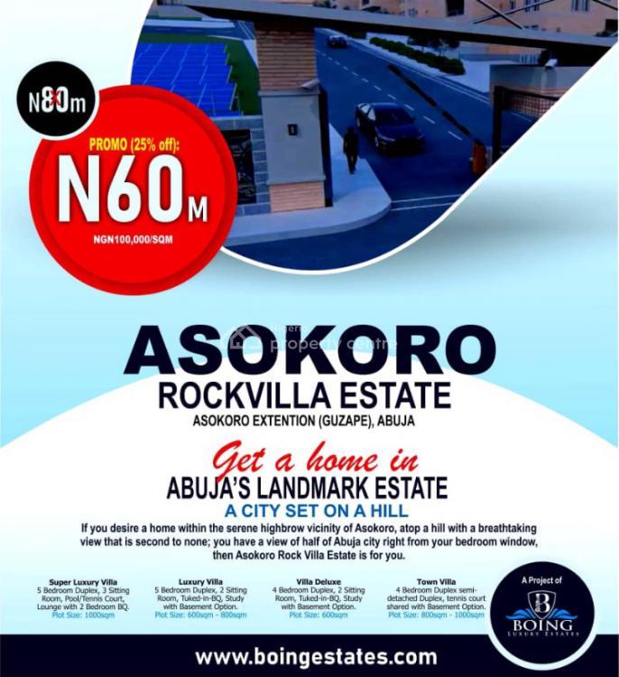 Land, Asokoro Rock Villa, Asokoro Extension (guzape), Asokoro District, Abuja, Residential Land for Sale