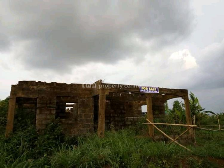 50 X 100 Land with a Foundation of 3 Bedroom Flat, 3 Junction, Uhrumwon Community, Old Mechanic Road, Egor Lga, Egor, Edo, Residential Land for Sale