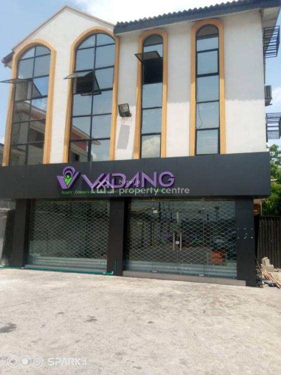 Vacant Two-storey Commercial Property, Opposite Mobil Fuel Station, Onigbongbo, Maryland, Lagos, Office Space for Sale