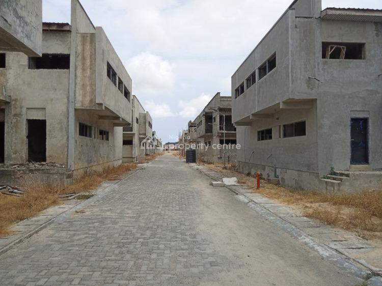 4 Bedroom Semidetached Duplex with Bq (carcass), Diamond Estate, Sangotedo, Ajah, Lagos, Semi-detached Duplex for Sale