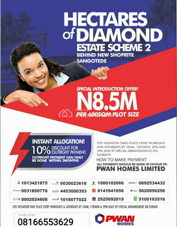 Hectars of Diamond 2 Is a Developed Community, Sangotedo, Ajah, Lagos, Mixed-use Land for Sale