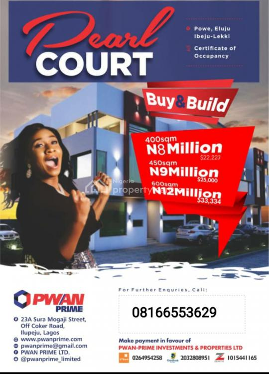 Pearl Court, Buy and Build, Ibeju Lekki, Lagos, Mixed-use Land for Sale