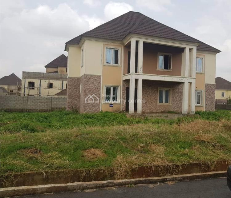 Detached 4 Bedrooms Carcass Duplex with 2 Sitting Rooms and a Room Bq, Naf Valley Estate, Asokoro District, Abuja, Detached Duplex for Sale