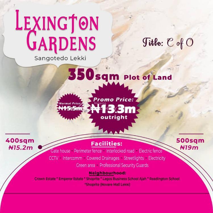 Plot of Land in Lexington Garden, Sangotedo, Ajah, Lagos, Residential Land for Sale