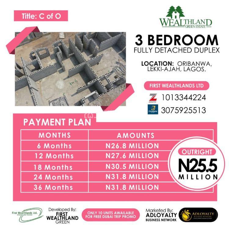 House, Weathland Green Estate, Sangotedo, Ajah, Lagos, Detached Duplex for Sale