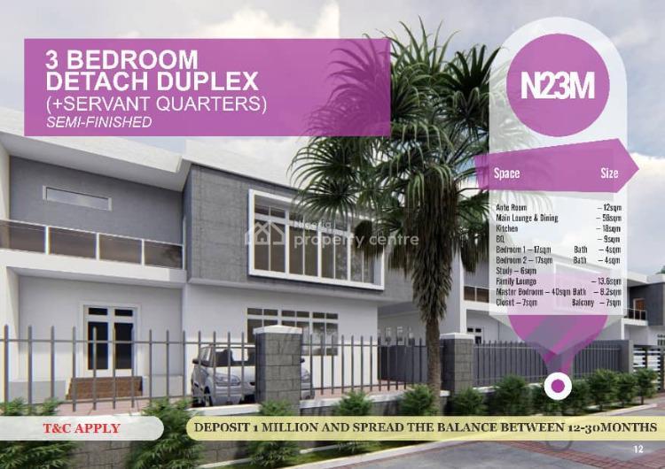 Luxury 3 Bedroom Detached Duplex with Excellent Amenities, Ibafo, Ogun, Detached Duplex for Sale