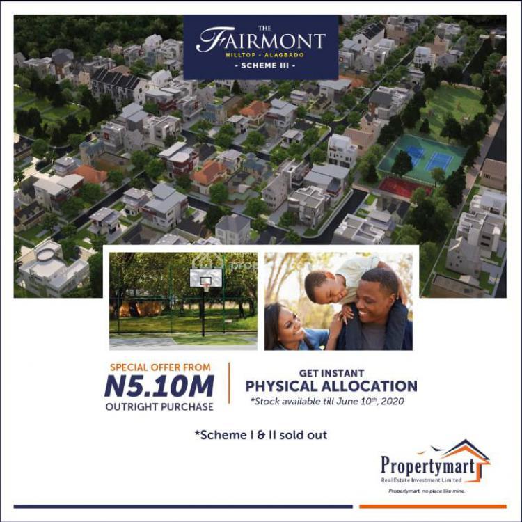Luxury Serviced Plot, Fairmont Hilltop Estate Alagbado, Alimosho, Lagos, Residential Land for Sale