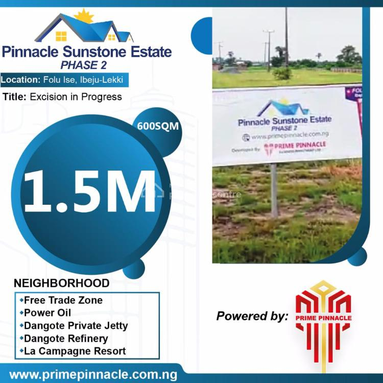 The Most Luxurious and Sophisticated Land., Pinnacle Sunstone Estate, Folu Ise, Ibeju Lekki, Lagos, Mixed-use Land for Sale