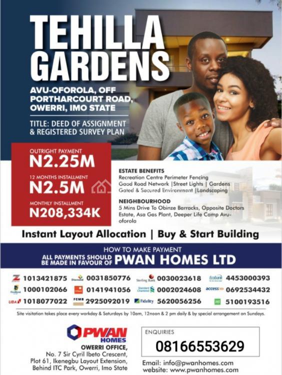 Land, Tehilla Gardens, Avu, Owerri, Imo, Residential Land for Sale