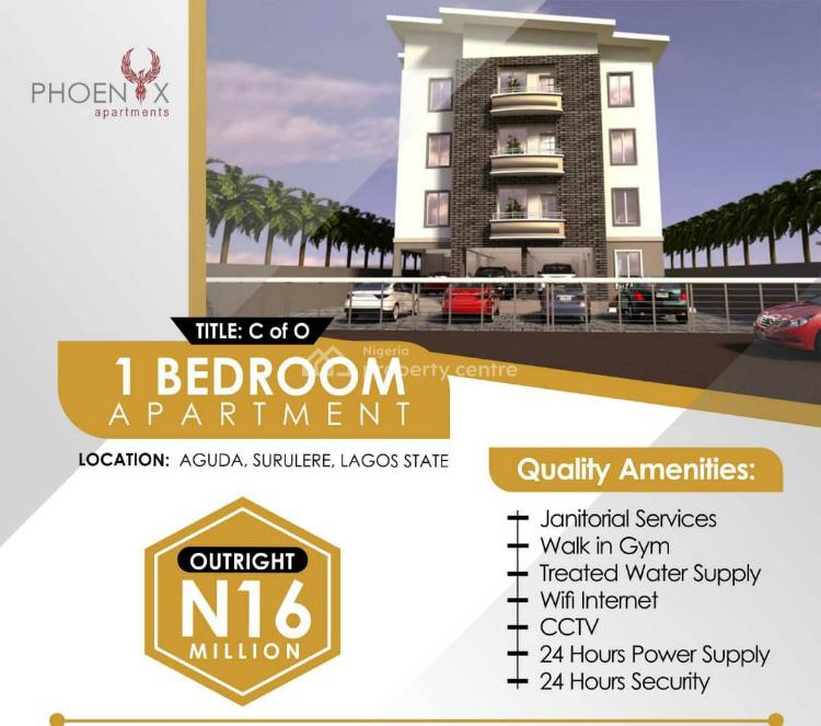 Own Luxury One Bedroom Apartment in a Fully Serviced, Phoneix Apartment, Aguda, Surulere, Lagos, Mini Flat for Sale