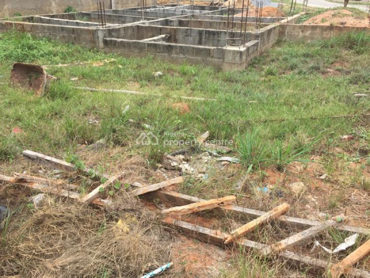 Half Plot of Land Measuring About 450sqm with a Foundation of a Duplex, Private Estate Near Berger, Ojodu, Lagos, Residential Land for Sale