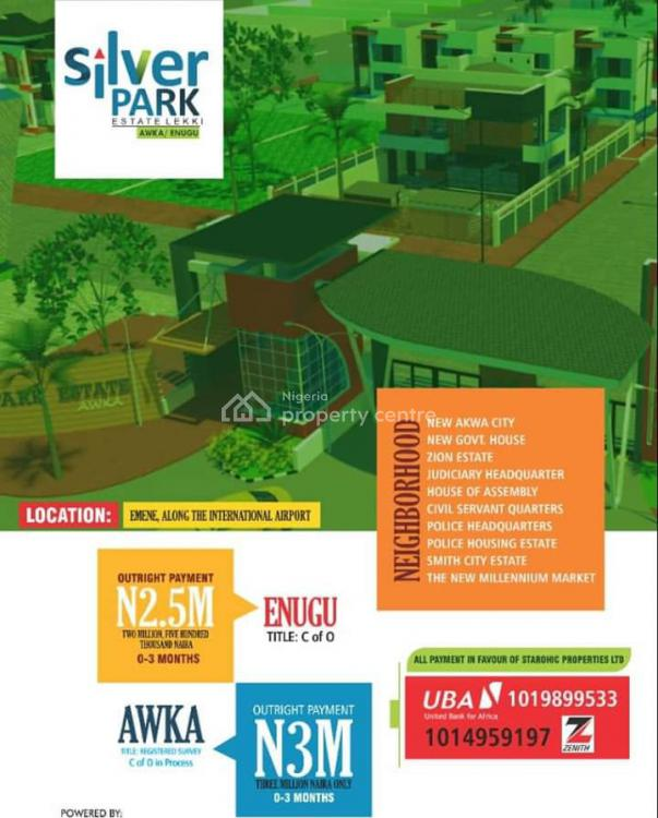 Cheapest C of  O Land Title  in a Built Up Location, Silver Park Estate Emene, Emene, Enugu, Enugu, Mixed-use Land for Sale