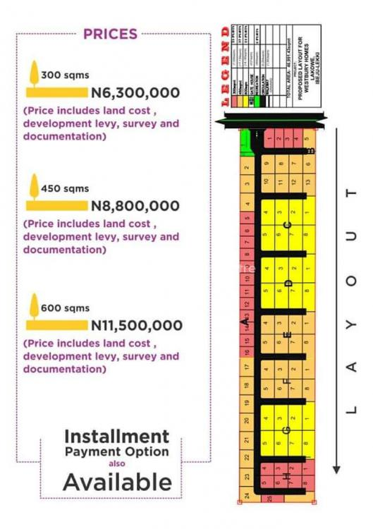 a Land with C of O and a Friendly Environment, Westbury Homes, Bogije, Ibeju Lekki, Lagos, Residential Land for Sale