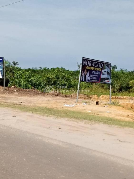 Cheapest Land with  Excision Title  Facing The Road, Norwood Estate, By Amen Estate, Eleko, Ibeju Lekki, Lagos, Mixed-use Land for Sale