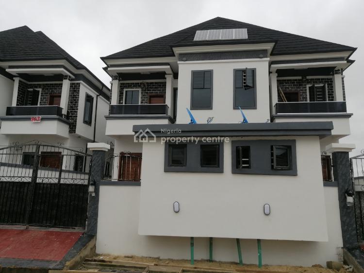 Tastefully Built Four Bedrooms Semi Detached House with Bq, Off Chevron Drive, Lekki Phase 1, Lekki, Lagos, Semi-detached Duplex for Rent