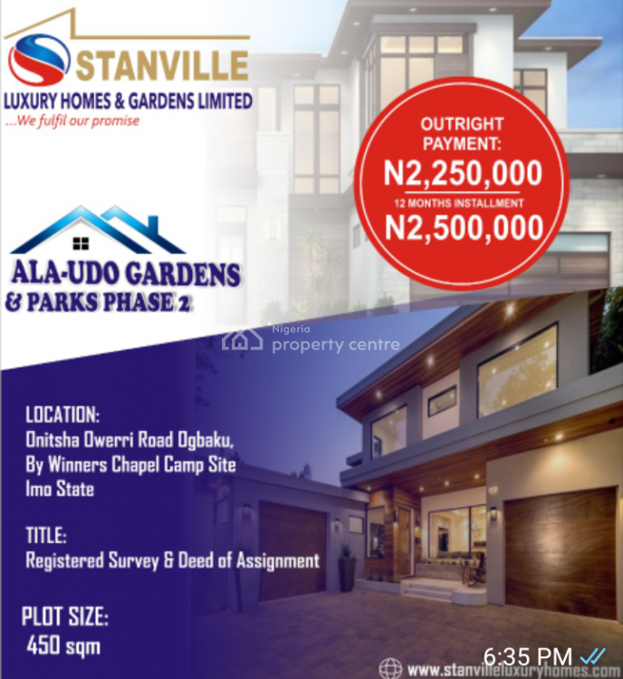 Affordable 100% Table Land in Serene Environment, Ala-udo Estate, Ogbaku Town, Off Onitsha - Owerri Road, Mbaitoli, Imo, Mixed-use Land for Sale