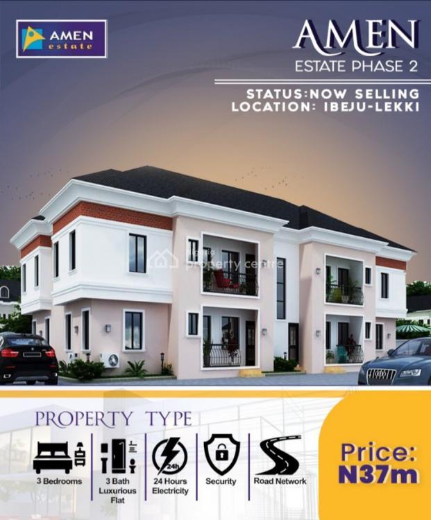 Luxury 3 Bedroom Duplex, Amen Estate 2, Eleko, Ibeju Lekki, Lagos, Detached Duplex for Sale