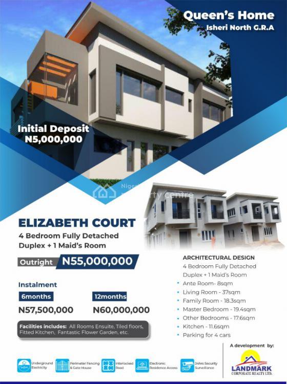 4 Bedroom Fully Detached Duplex Plus Bq, Elizabeth Court Estate, Gra, Isheri North, Lagos, Detached Duplex for Sale