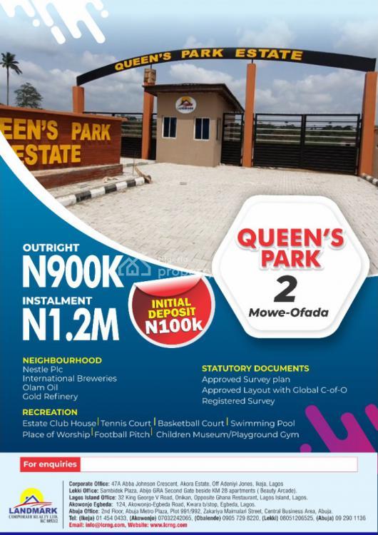 Land, Queen Garden Estate, Mowe Ofada, Ogun, Land for Sale