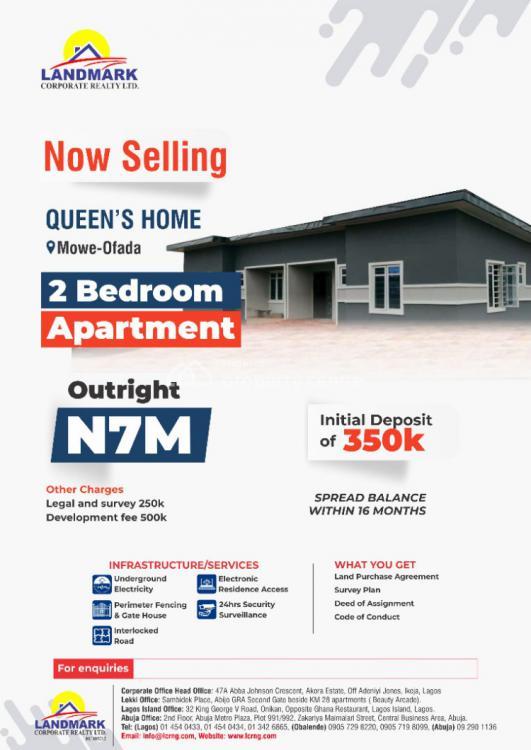 Mini Flat, Queens Home, Mowe Ofada, Ifako-ijaiye, Lagos, Mini Flat for Sale