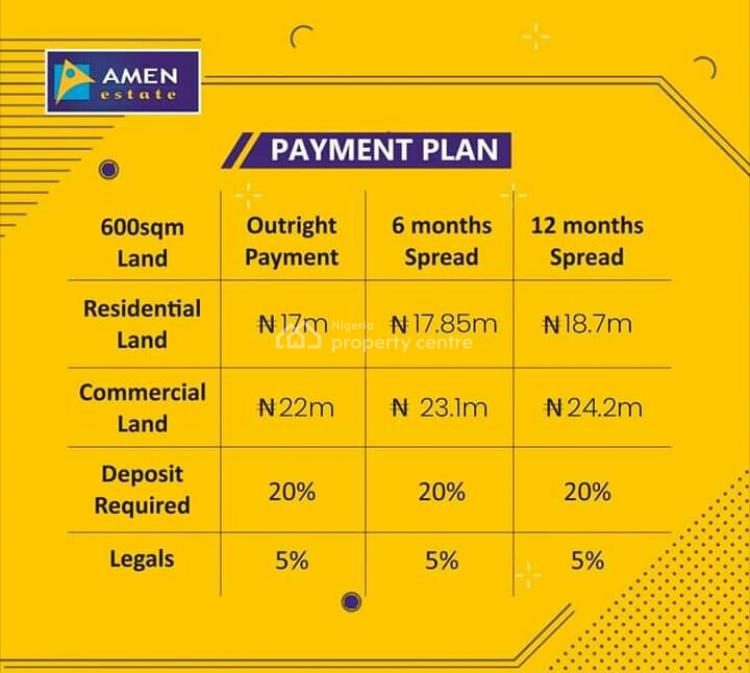 Dry Land, Amen Estate Phase 2, Eleko, Ibeju Lekki, Lagos, Mixed-use Land for Sale