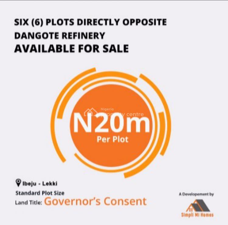Governors Consent Land Available Opposite Dangotes Refinery, Opposite Dangote Refinery Jetty, Ibeju Lekki, Lagos, Commercial Land for Sale
