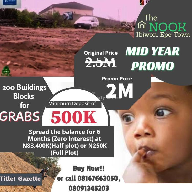 a Completely Dry Land, Beside Otedola Housing Estate , Epe Town., Epe, Lagos, Residential Land for Sale