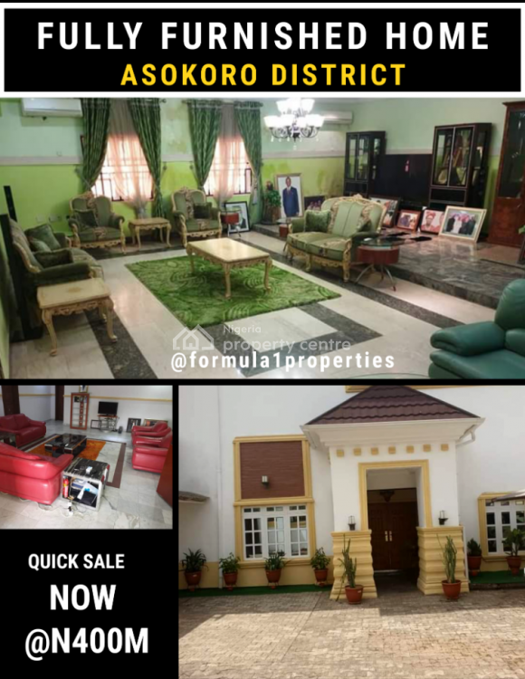 a Solidly Finished and Furnished Home, Asokoro District, Abuja, Detached Duplex for Sale