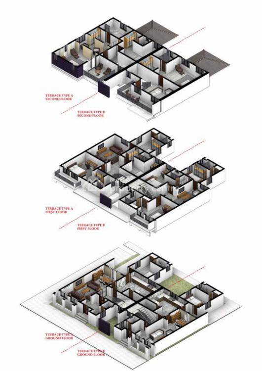 5 Bedroom Terraced Duplex with a Bq, Jahi, Abuja, Terraced Duplex for Sale