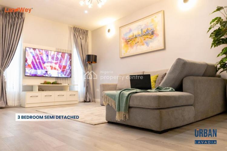 Smart Keyless 3 Bedroom Semi-detached, Lavadia, Urban Prime Four Estate, Ogombo, Ajah, Lagos, Semi-detached Duplex for Sale