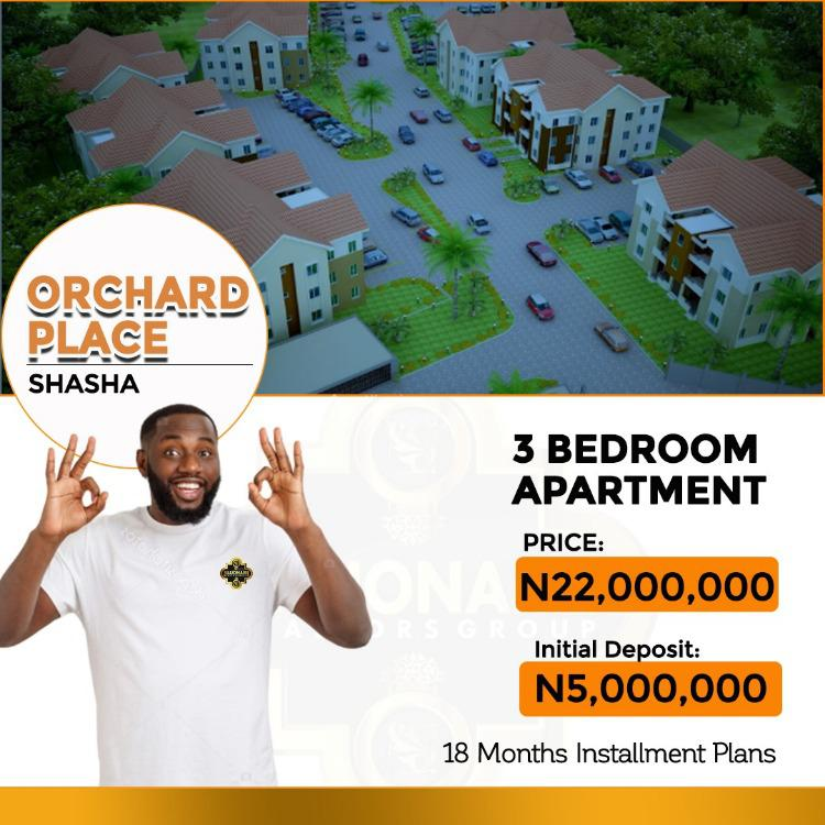 3 Bedroom Apartment, Orchard Place, Shasha, Alimosho, Lagos, Flat for Sale