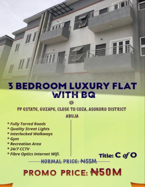 3 Bedroom Flat + Bq in a Luxurious Estate., Pp Estate, Guzape, Close to Coza, Asokoro District, Abuja, Flat for Sale