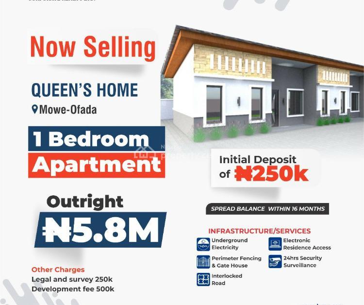 For Sale: 1 Bedroom Apartment, Queen's Home, Mowe Ofada