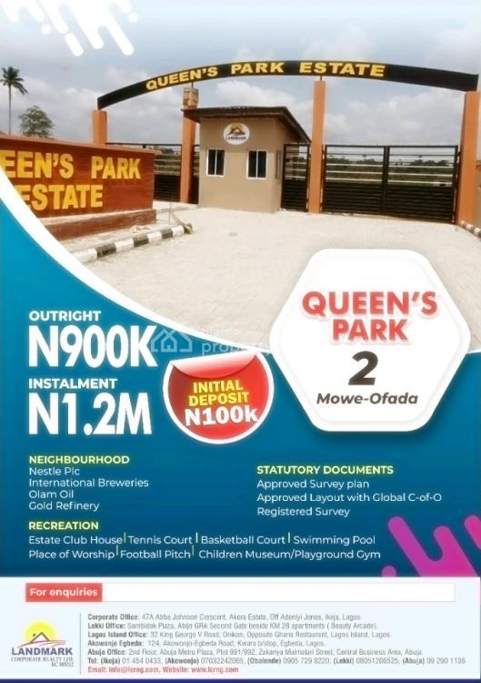 Queens Park 2, Queens Park 2 ., Mowe Ofada, Ogun, Residential Land for Sale