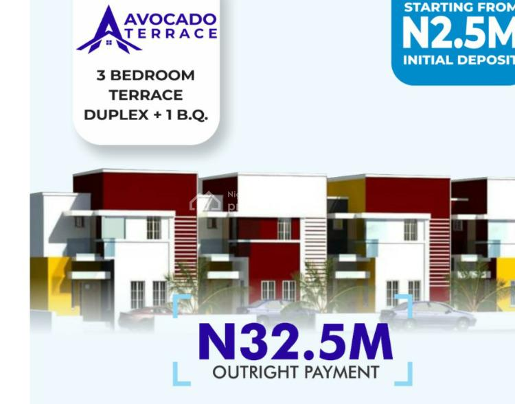 Beautiful 3 Bedroom Terrace with Bq, Close to Channels Tv Hq, Opic, Isheri North, Ogun, Terraced Duplex for Sale