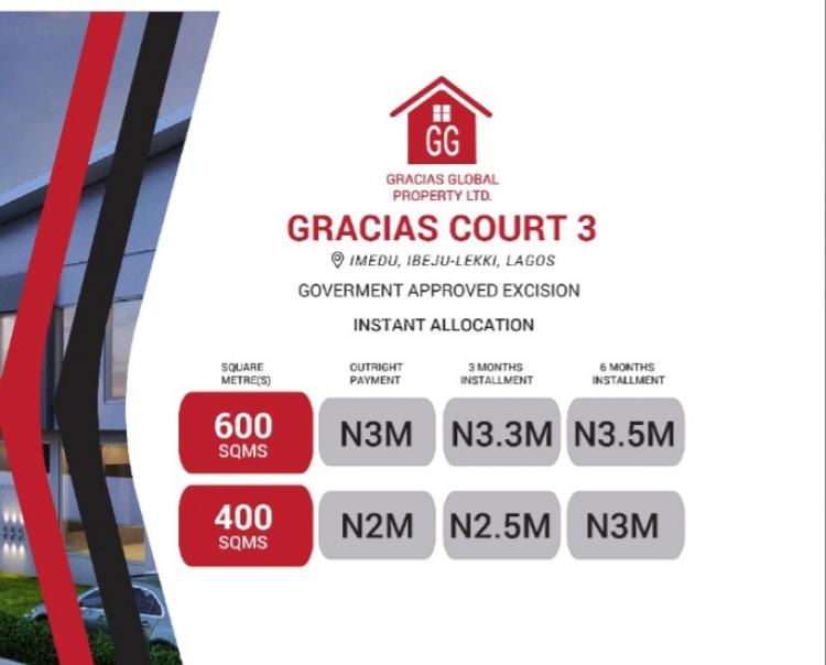 Available Plots, Gracias Garden Scheme 3, Igbogun Road, Okun Imedu, Ibeju Lekki, Lagos, Mixed-use Land for Sale