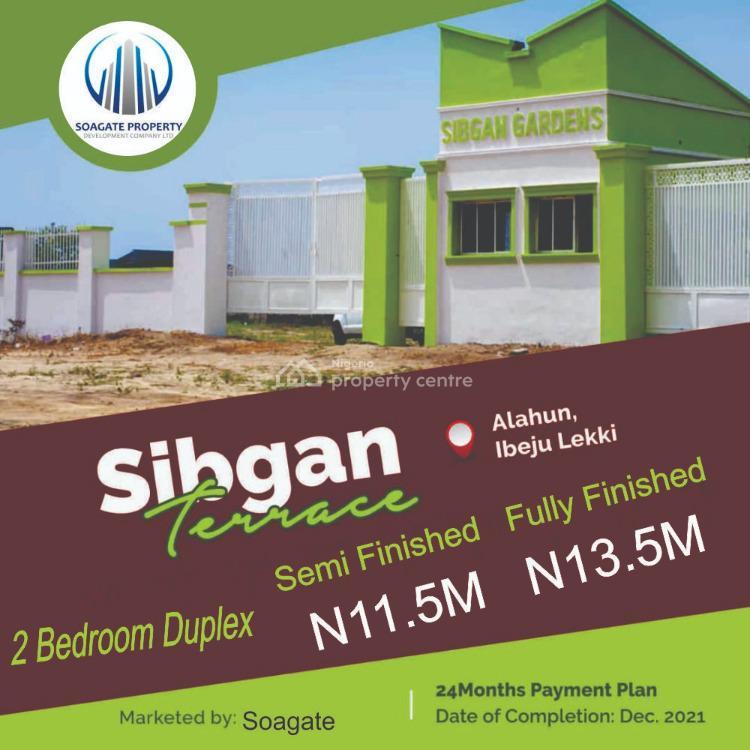 Luxury 2 Bedroom Terrace Duplex with Bq, Sibgan Avenue,  Alahun By Beechwood Estate, Bogije, Ibeju Lekki, Lagos, Terraced Duplex for Sale
