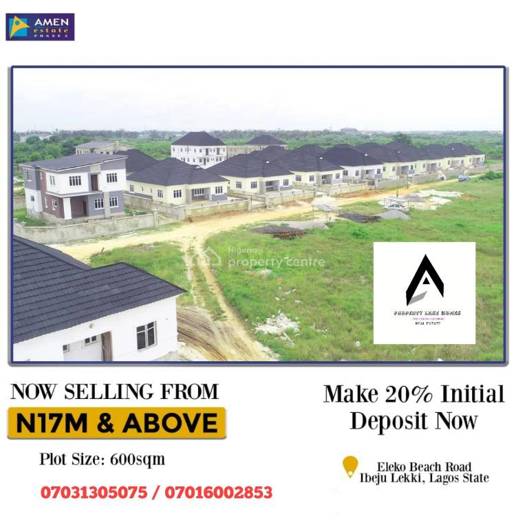 Dry and Very Developed Serviced Estate Land with C of O, Eleko Junction, Ibeju Lekki, Lagos, Residential Land for Sale
