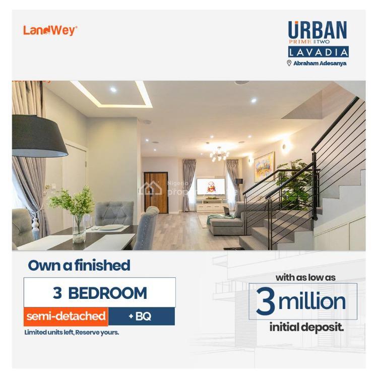 Modern 3 Bedroom Semi-detached Plus Bq, Abraham Adesanya, Lekki, Lagos, Semi-detached Duplex for Sale