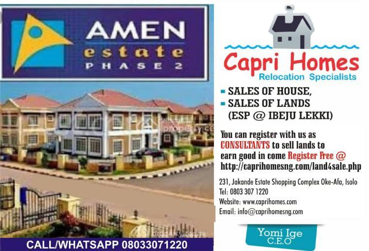 Land with C of O, Amen Estate Phase 2, Eleko, Ibeju Lekki, Lagos, Residential Land for Sale