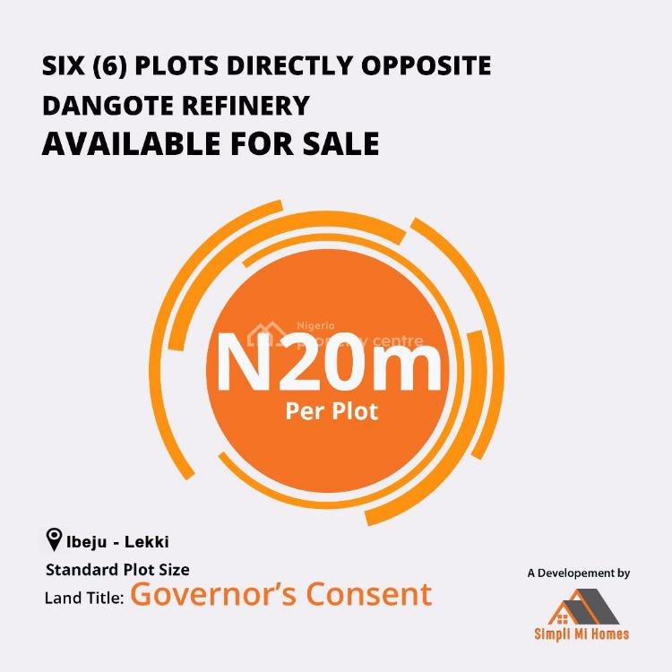 Commercial Purpose Land Is Available, Directly Opposite Dangote Refinery, Ibeju Lekki, Lagos, Commercial Land for Sale
