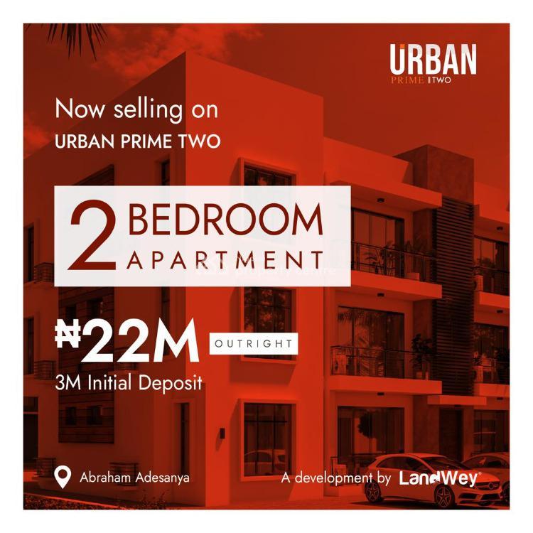 2 Bedroom Apartment, Abraham Adesanya, Urban Prime Two Lavadia, Ajah, Lagos, Block of Flats for Sale