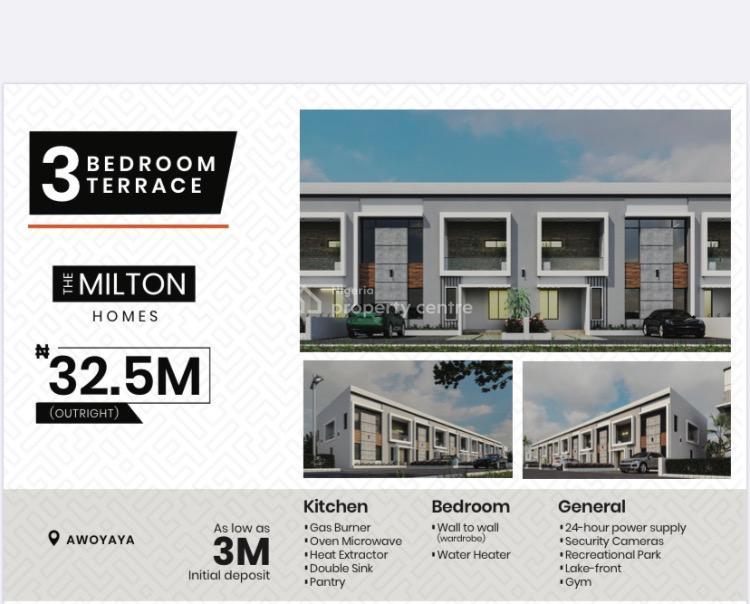 Luxury 3 Bedroom Terrance Duplex, Awoyaya, Ajah, Lagos, Terraced Duplex for Sale
