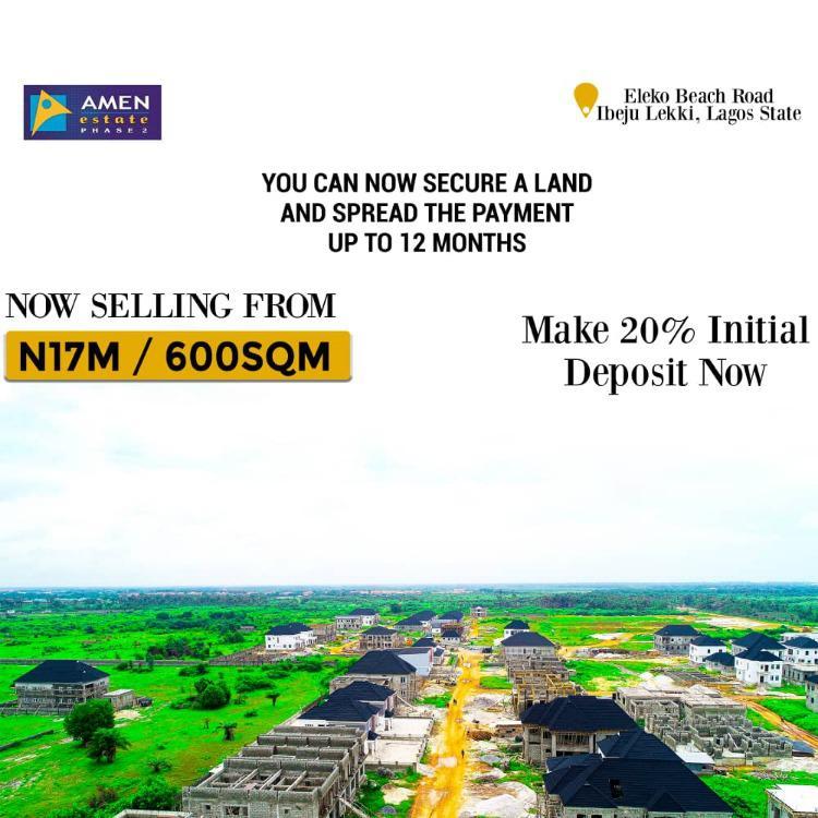 Land, Amen Estate Phase 2, Eleko, Ibeju Lekki, Lagos, Residential Land for Sale
